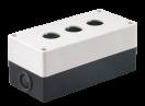 Корпус  КП 103 для кнопок 3места белый ИЭК
