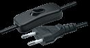 Шнур 2х0,75 (1,7м) NPS-FS-170-BL  с выкл. черный 94 668 Navigator