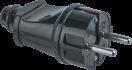 Вилка штепсел. прямая с/з черная NCA-PL02-16A-E-BL Navigator 61 360