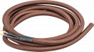 Провод декор.NC-B03-150-2x0.75 1.5 м коричневый в оплетке Navigator 61730